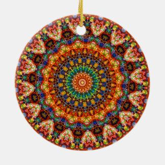 Süßes u. buntes Geleebonbon-Mandala-Kaleidoskop Rundes Keramik Ornament