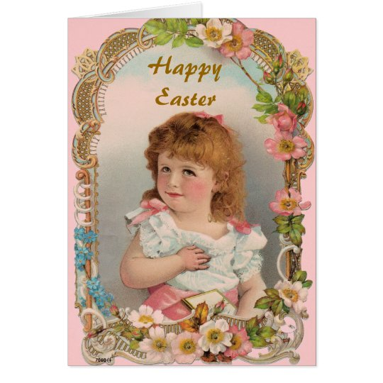 Süßes Vintages Mädchen Karte