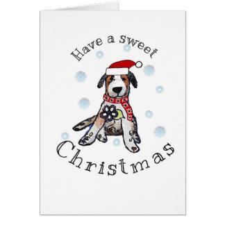 Süßes Weihnachten Karte
