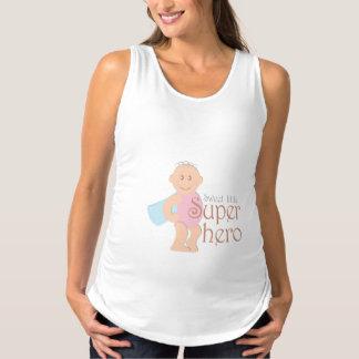 Süßes wenig Superheld Mutterschafts-Trägershirt Schwangerschafts Tank Top