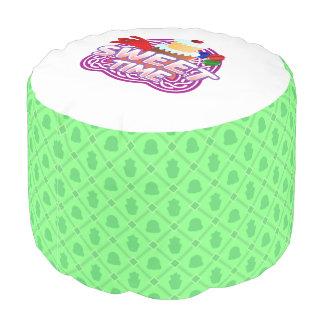 Süßes Zeitgrün runder Puff Hocker