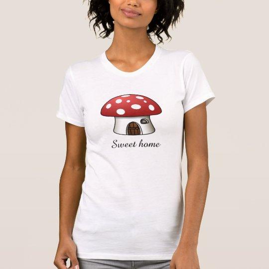Süßes Zuhause. Vermehrt sich Zuhause, red-white. T-Shirt