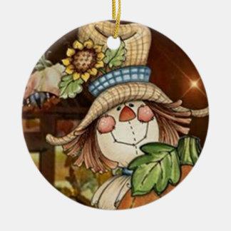 SÜSSESTE VOGELSCHEUCHE-WEIHNACHTSverzierung Keramik Ornament