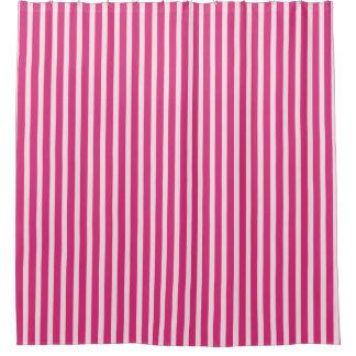 Süßigkeit-Stock-Streifen (c) Kirsche-Rot u. Duschvorhang