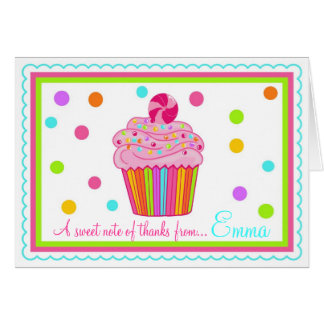 Süßigkeit Surpise kleiner Kuchen danken Ihnen Karte