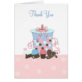 Süßigkeit und Süßigkeiten danken Ihnen Karte