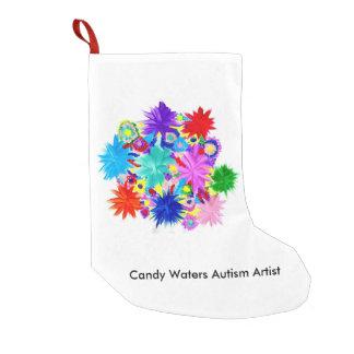 Süßigkeit wässert Autismus-Künstler Kleiner Weihnachtsstrumpf
