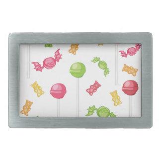 Süßigkeiten Rechteckige Gürtelschnallen