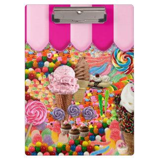 Süßigkeits-16. Geburtstag-Eiscreme Klemmbrett