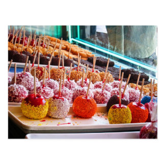 Süßigkeits-Äpfel - Coney Island, NYC Postkarte