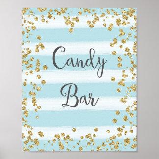 Süßigkeits-Bar, das Plakat-Druck Wedding ist Poster