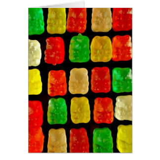 Süßigkeits-Bären Karte