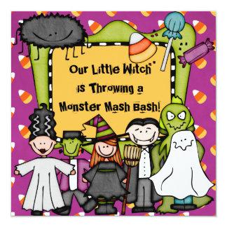 Süßigkeits-blöde Halloween-Party-Einladung Karte