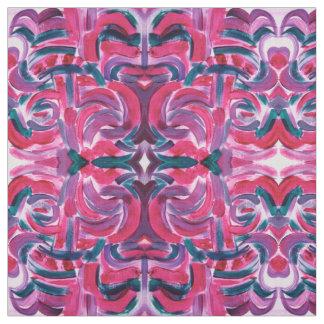 Süßigkeits-Farben - abstrakte Kunst handgemalt Stoff