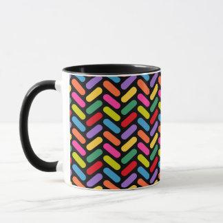 Süßigkeits-Fischgrätenmuster-Muster Tasse