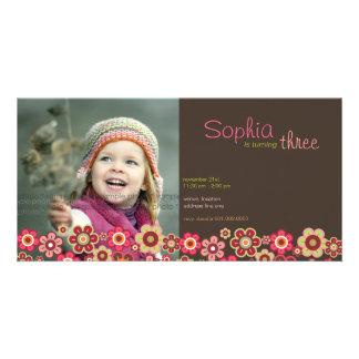 Süßigkeits-Gänseblümchen-Muster-Geburtstag laden Karte