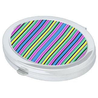 Süßigkeits-gestreifter kompakter Spiegel Taschenspiegel