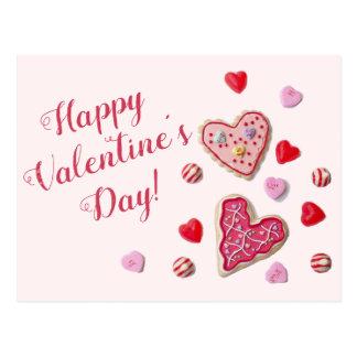 Süßigkeits-Herz-kundenspezifische Postkarte