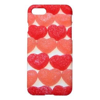 Süßigkeits-Herzen in Folge iPhone 8/7 Hülle