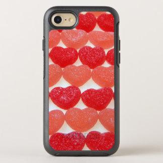 Süßigkeits-Herzen in Folge OtterBox Symmetry iPhone 8/7 Hülle