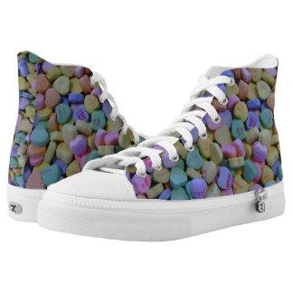 Süßigkeits-Herzentwurf Hoch-geschnittene Sneaker