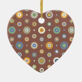 Süßigkeits-Kreise Keramik Herz-Ornament