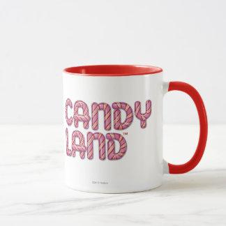 Süßigkeits-Land Staplungslogo Tasse