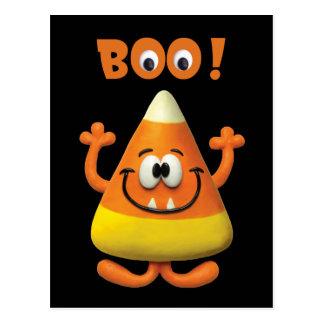 Süßigkeits-Mais-Halloweenboo-Party Postkarte
