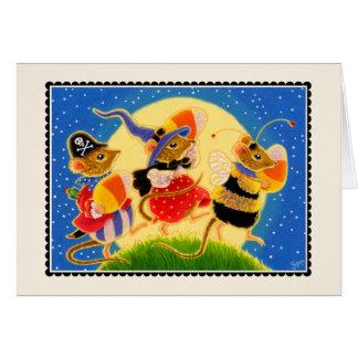 Süßigkeits-Mais-Mäusehalloween Notecard  Karte