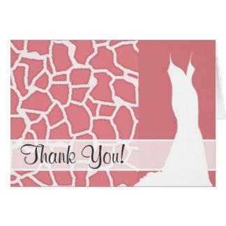 Süßigkeits-rosa Giraffen-Tierdruck Karte
