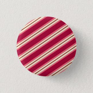 Süßigkeits-Streifen: Himbeere Runder Button 3,2 Cm