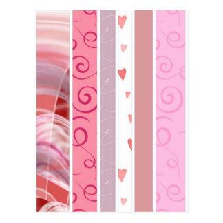 Süßigkeits-Streifen Postkarte