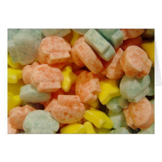 Süßigkeits-Süßigkeiten Karte