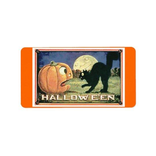 Süßigkeits-Tasche Halloween Adressaufkleber