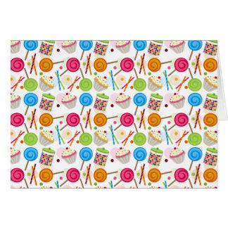 Süßigkeits-u. Süßigkeitens-Muster Notecard Karte