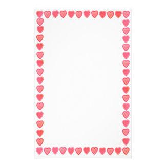 Süßigkeits-Valentinsgruß-Herz-Briefpapier Briefpapier