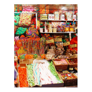 Süßigkeitsstall Postkarte