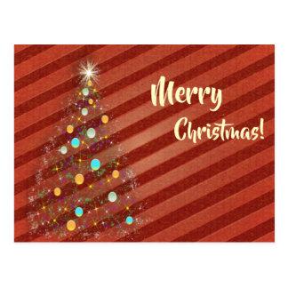 Süßigkeitsstreifen Weihnachtsbaum Postkarte