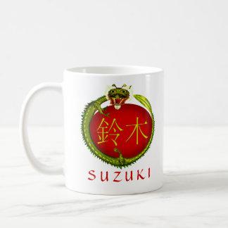 Suzuki-Monogramm-Drache Kaffeetasse