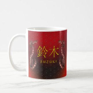 Suzuki-Monogramm-Schlange Kaffeetasse