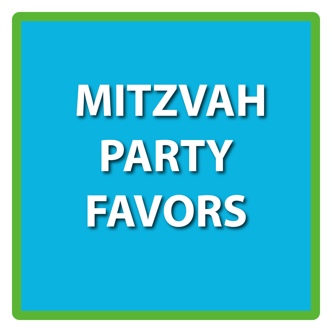 Mitzvah Party Favors & Cake Toppers