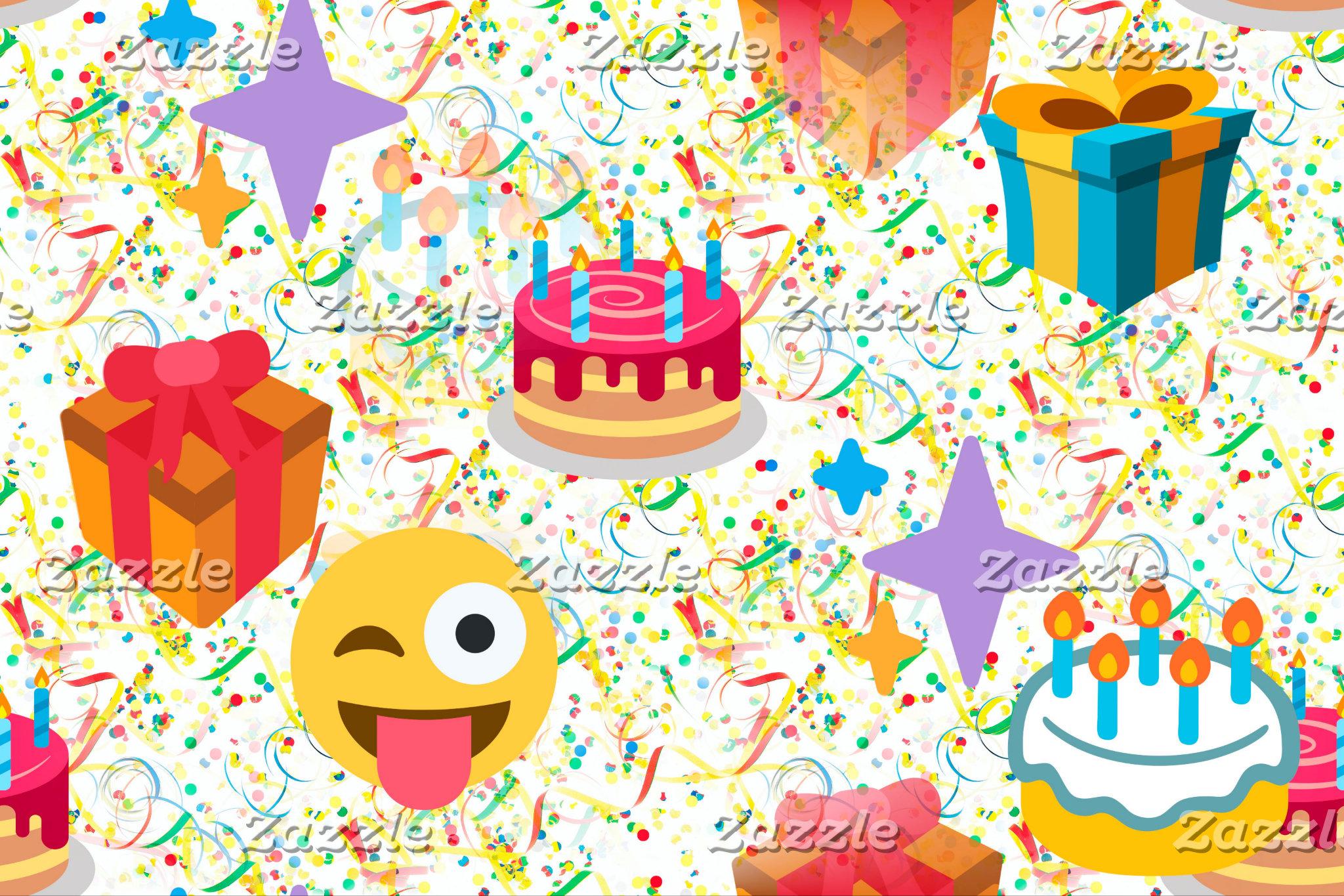 happy birthday emoji