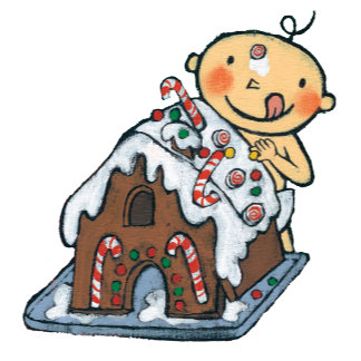 Decorating a Gingerbread House for Christmas