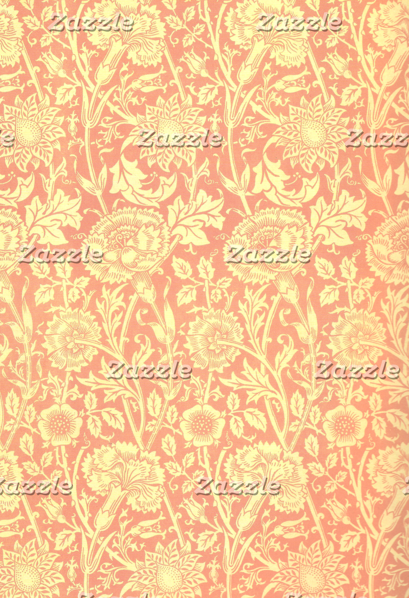 William Morris Pink and Rose Design