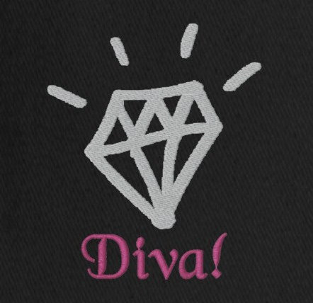 Embroidered Diva Themed Gifts