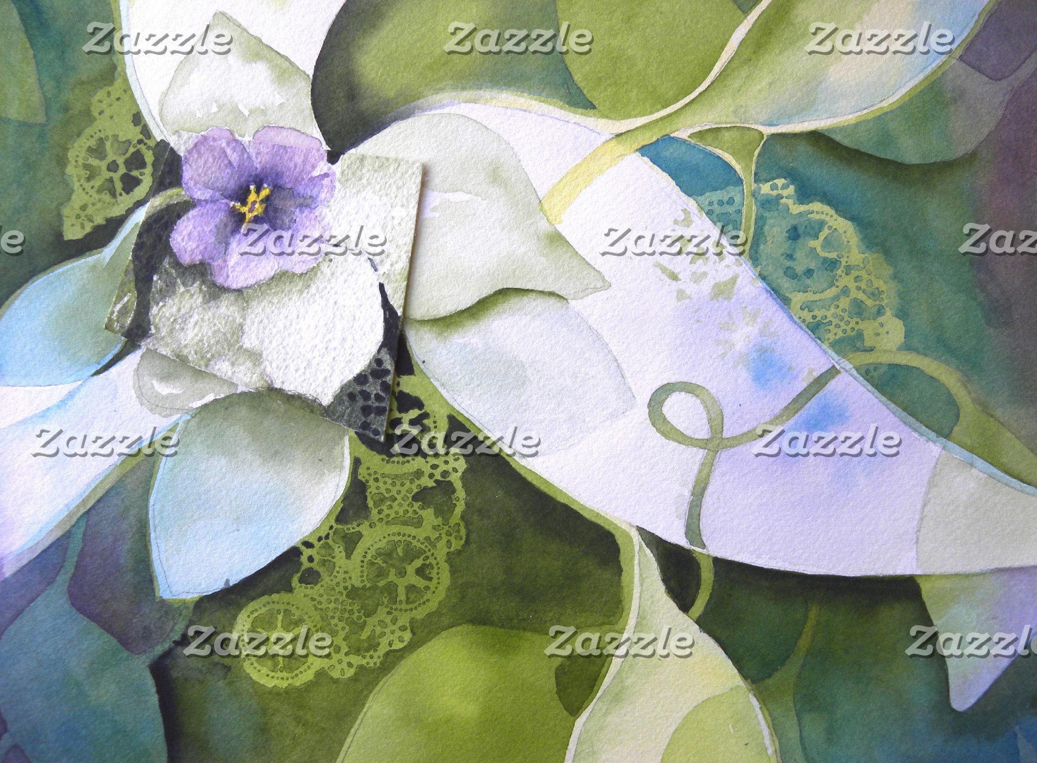 African Violet Collage