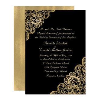 Formal Black and Gold Wedding Set