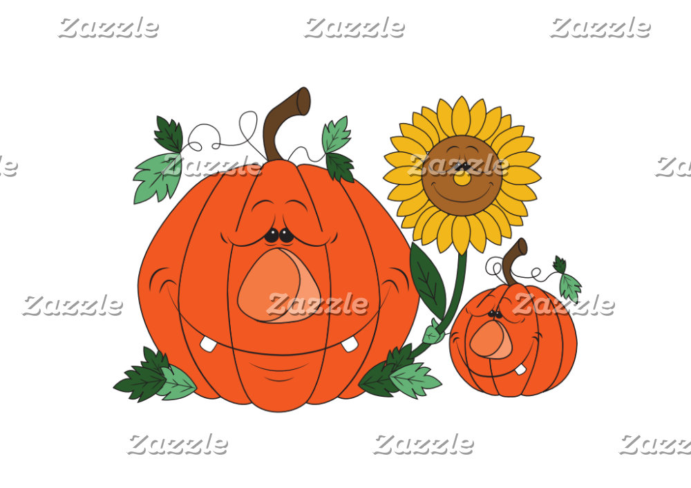Cute Pumpkin Cartoon