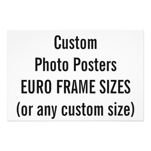 European Frame Sizes (mm)