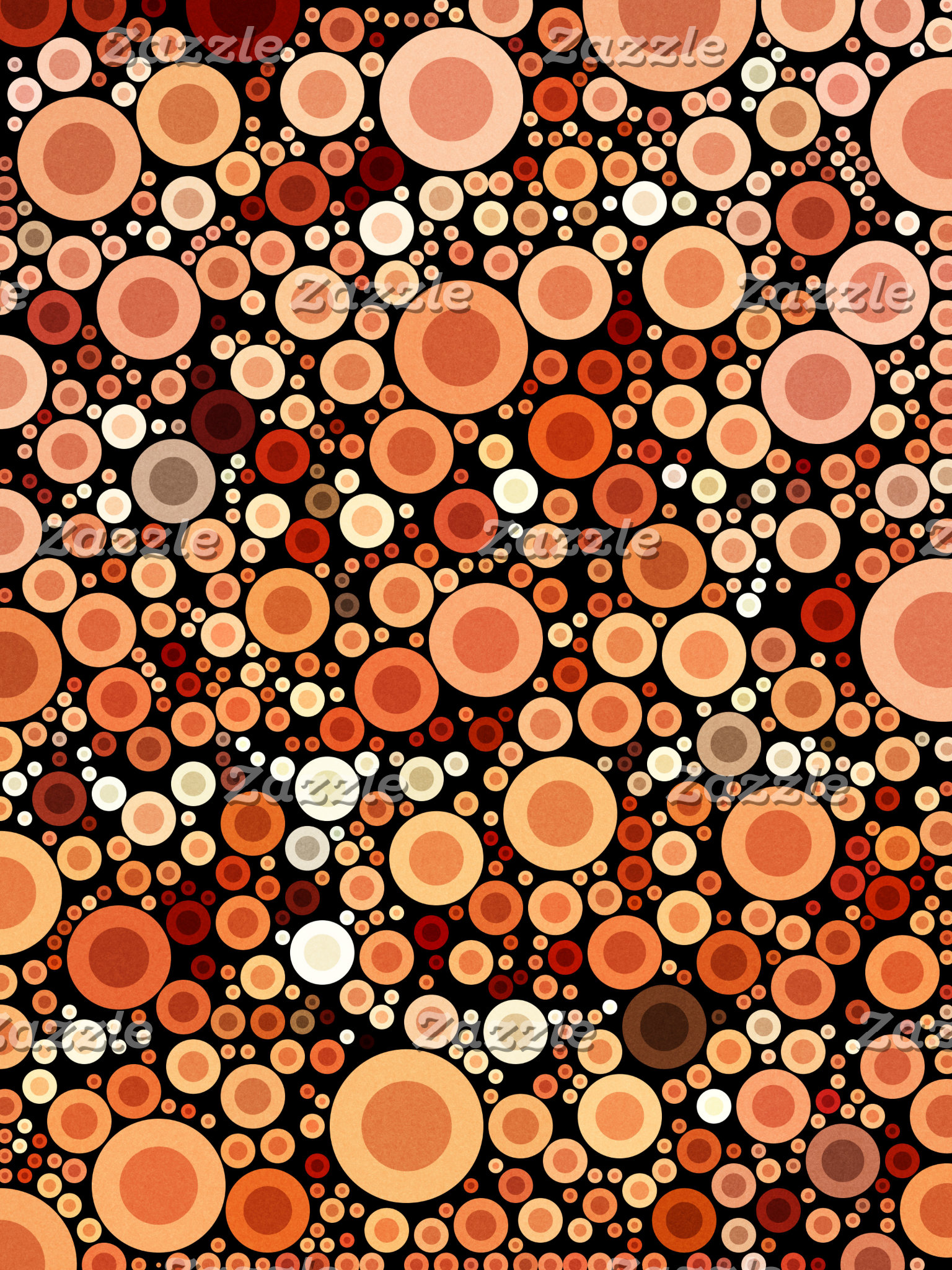 Geometric Pattern | Orange and Peach Circles